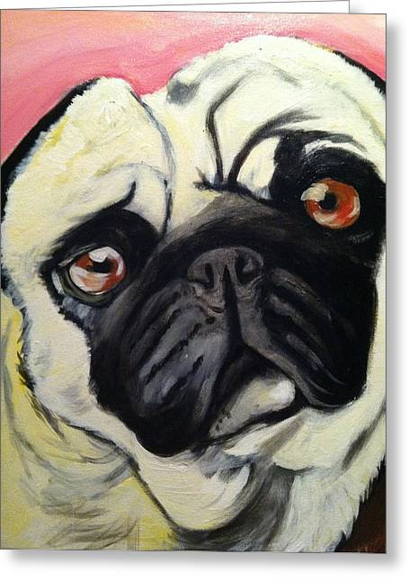 The Pug Greeting Card by Melissa Bollen
