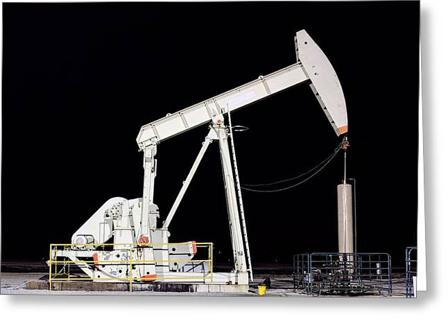 The Pumpjack Oil Pump Greeting Card
