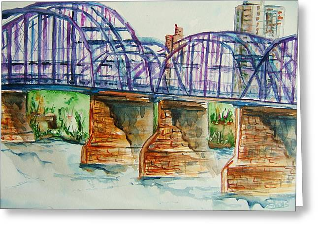 The Purple People Bridge Greeting Card