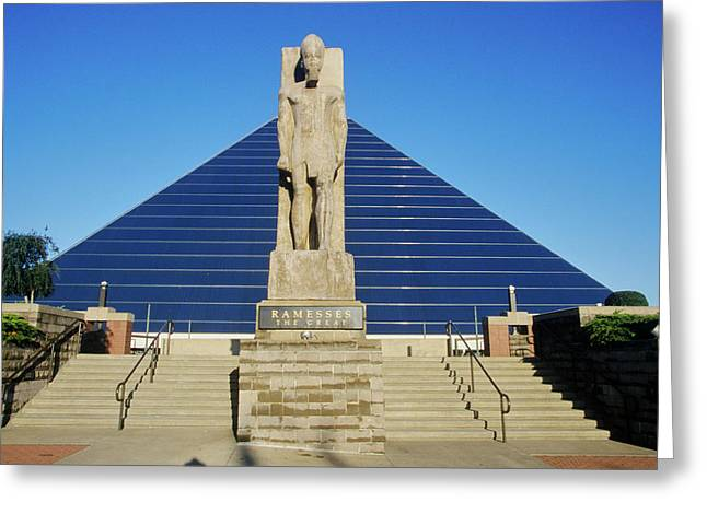 The Pyramid Sports Arena In Memphis, Tn Greeting Card