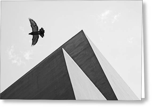 The Pyramids Of Love And Tranquility Greeting Card