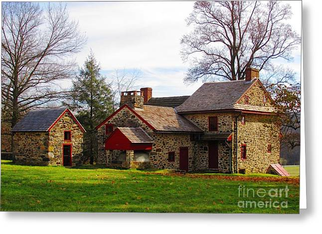 The Quaker's House Greeting Card by Christina Zettner