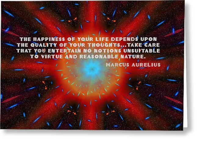 The Quality Of Your Thoughts Greeting Card by Mario Carini