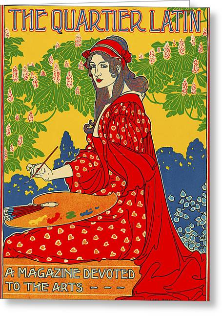 The Quarter Latin 1898 Greeting Card by Louis John Rhead