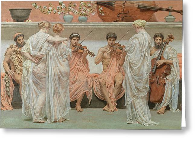 The Quartet A Painters Tribute To The Art Of Music Greeting Card by Albert Moore