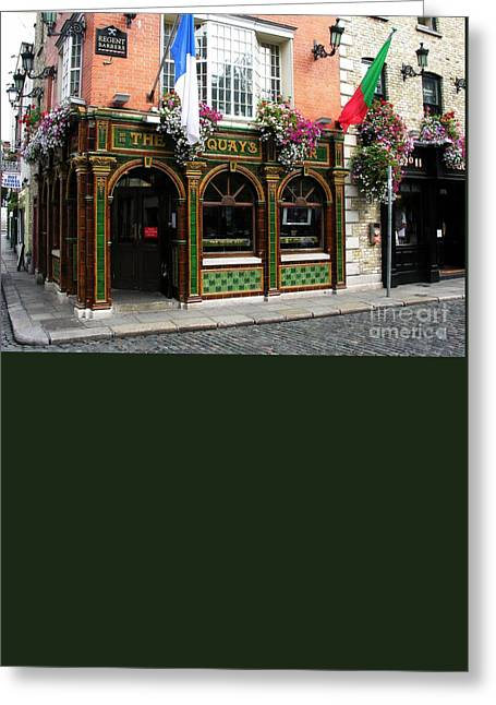The Quays In Dublin Greeting Card