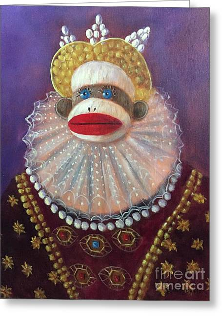 Greeting Card featuring the painting The Proud Queen by Randol Burns
