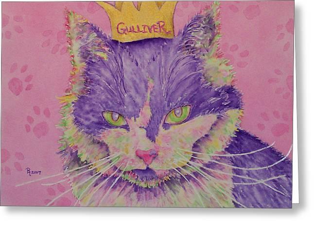 The Queen Greeting Card by Rhonda Leonard
