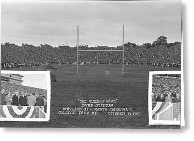 The Queens Game Byrd Stadium Md College Greeting Card