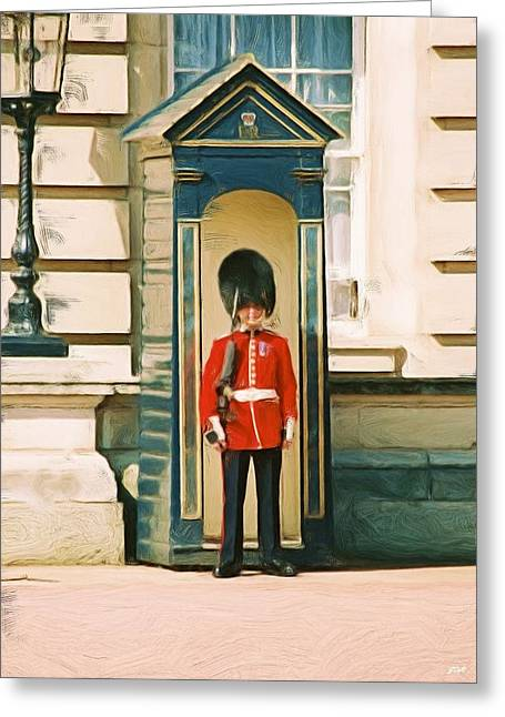 The Queen's Guard Greeting Card by Jenny Hudson