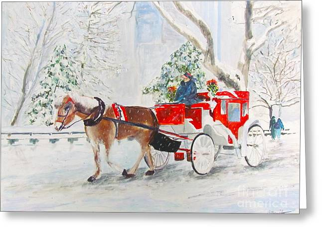 The Quiet Ride Greeting Card by Beth Saffer