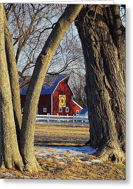 The Quilt Barn Greeting Card by Karen McKenzie McAdoo