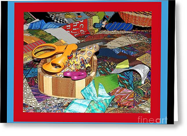 The Quilters Table Greeting Card