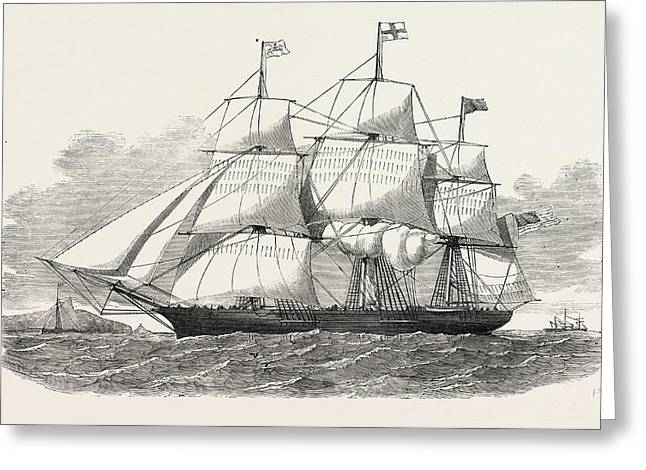 The Racer Clipper Packet-ship, Of New York Greeting Card by American School
