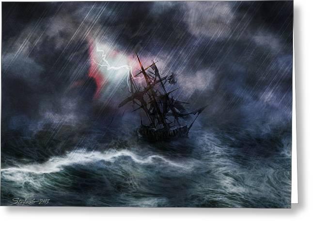 The Rage Of Poseidon II Greeting Card