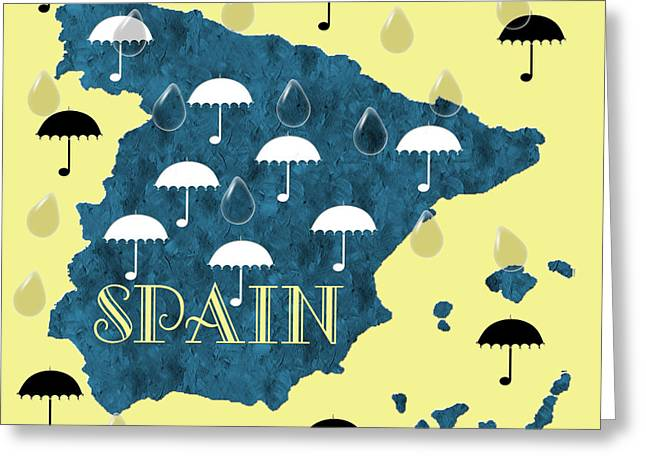 The Rain In Spain Greeting Card