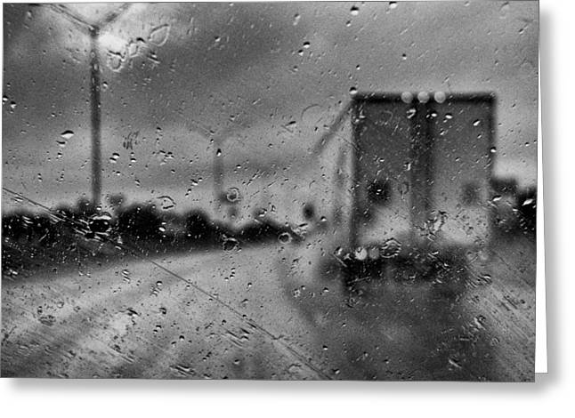 The Rain Makes Mysteries Greeting Card