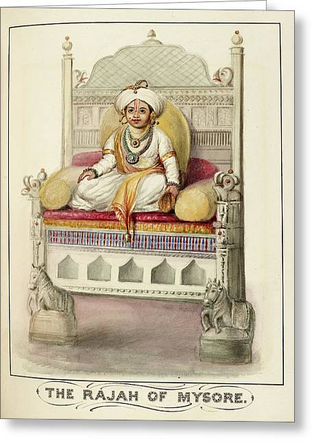 The Rajah Of Mysore Greeting Card by British Library
