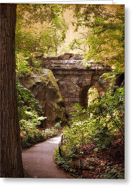 The Ramble Arch Greeting Card by Jessica Jenney