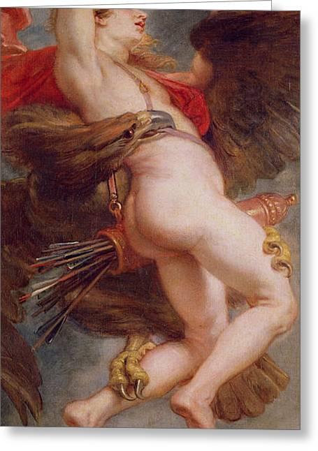 The Rape Of Ganymede Greeting Card by Rubens