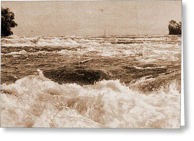 The Rapids Above The Falls, Niagara, Rapids, United States Greeting Card by Litz Collection