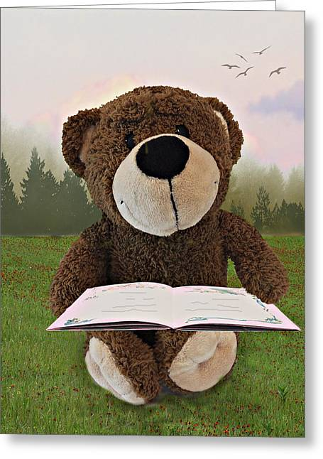 The Reader Greeting Card by Judy  Johnson