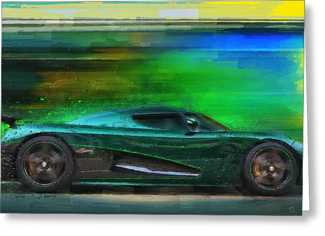 The Real Green Monster Greeting Card by Alan Greene