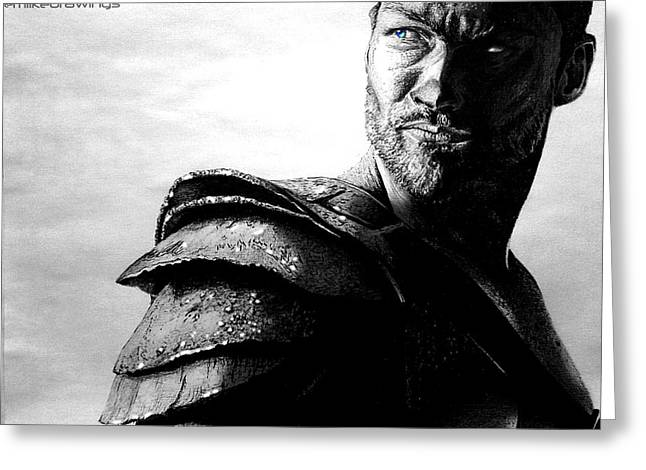 The Real Spartacus Andy Whitfield Greeting Card by Mike Sarda