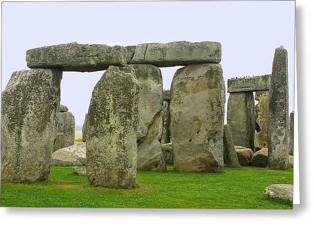 The Real Stonehenge Greeting Card by Linda Phelps