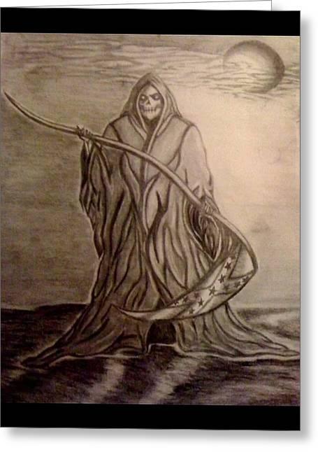 The Reaper Greeting Card by Kolene Parliman