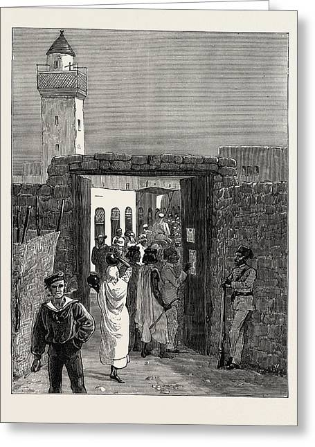 The Rebellion In The Soudan Sudan Reading The Proclamation Greeting Card