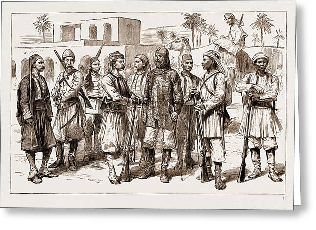 The Rebellion In The Sudan, 1883 Some Types Greeting Card by Litz Collection