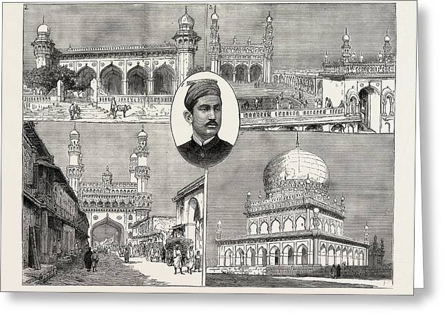 The Recent Installation Of The Nizam Of Hyderabad India 1 Greeting Card by Indian School
