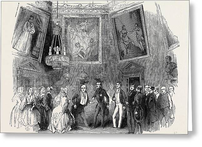 The Reception In The Saloon Greeting Card