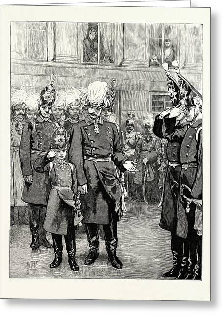 The Reception Of The Crown Prince Of Prussia Into The First Greeting Card by German School