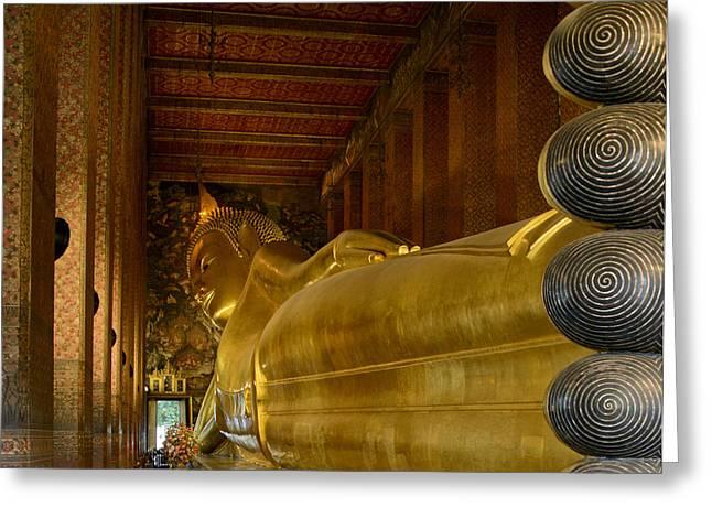 The Reclining Buddha Greeting Card
