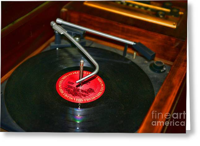The Record Player Greeting Card by Paul Ward
