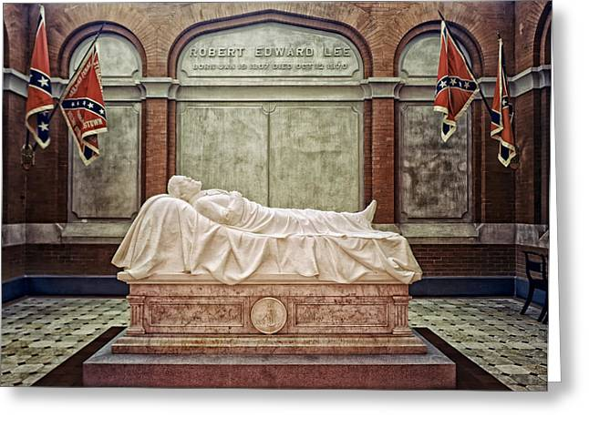 The Recumbent Robert E. Lee Greeting Card by Mountain Dreams