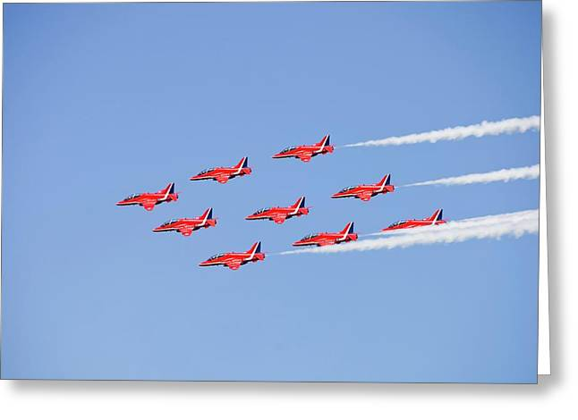 The Red Arrows Greeting Card by Ashley Cooper