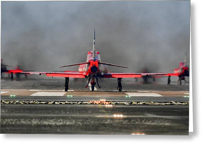 The Red Arrows Greeting Card by James Lucas