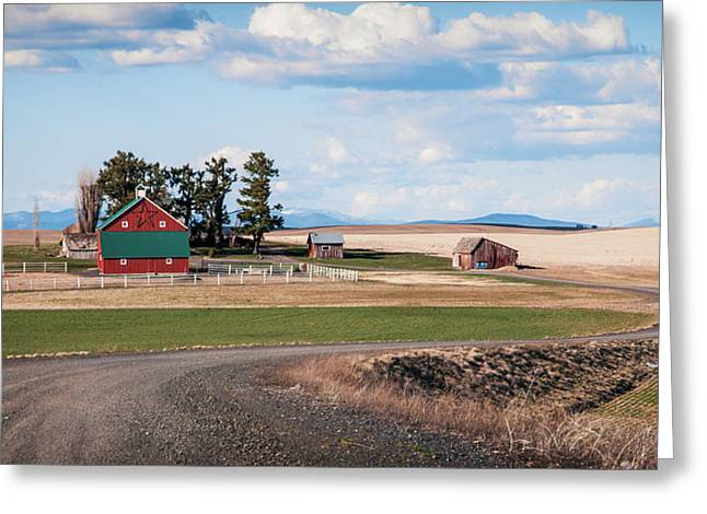 The Red Barn Greeting Card by Stephen Beaumont