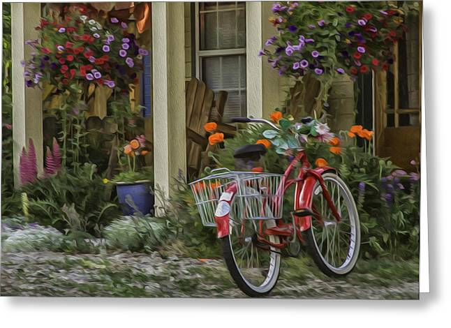 The Red Bike Greeting Card
