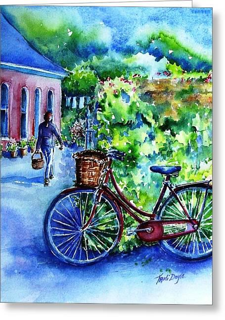 The Red Bike  Greeting Card by Trudi Doyle