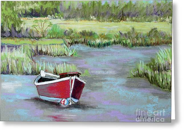 The Red Boat Chronicle  Greeting Card