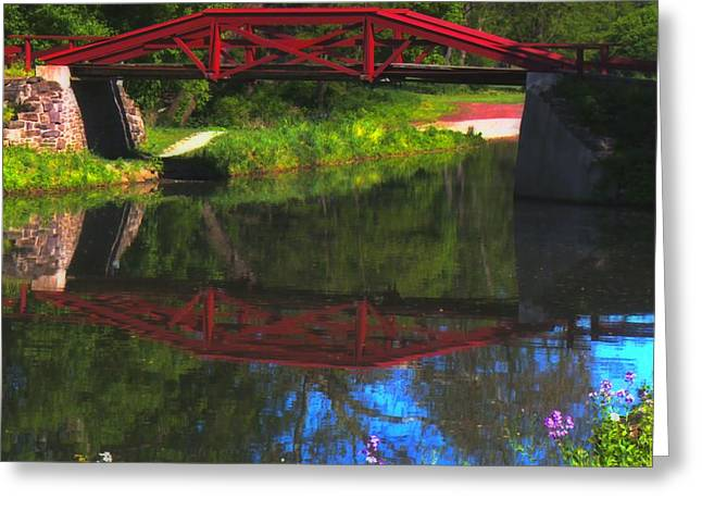 The Red Bridge Greeting Card