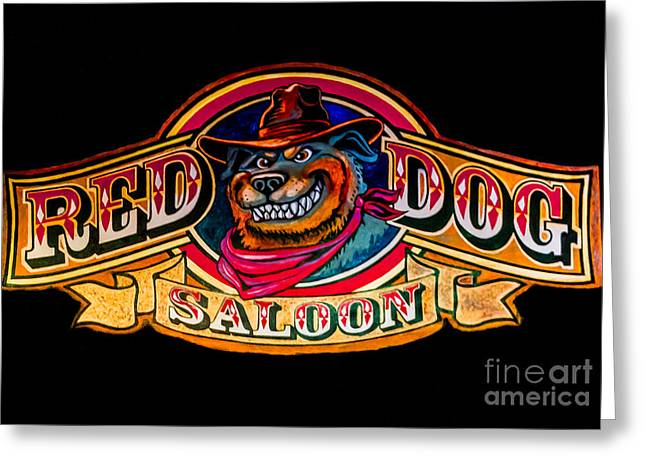 The Red Dog Saloon Greeting Card