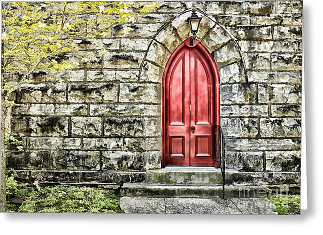 The Red Door Greeting Card by Darren Fisher