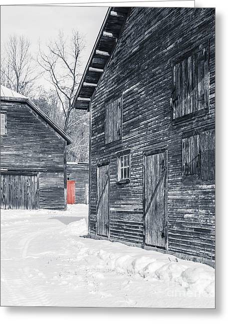The Red Door Greeting Card by Edward Fielding
