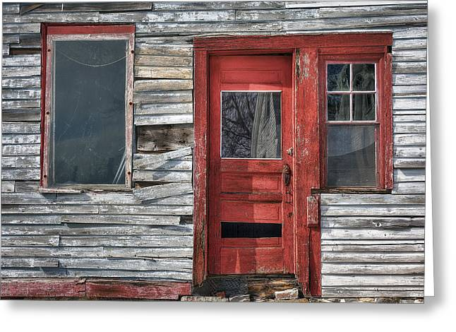The Red Door Greeting Card by Eric Gendron