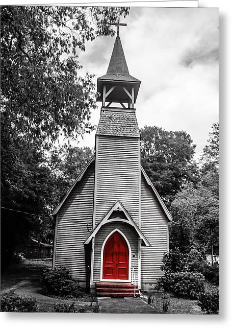 The Red Door Greeting Card by Steven  Taylor